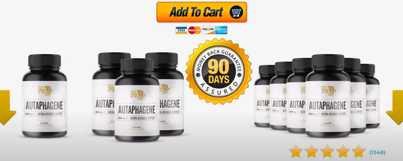 Autaphagene® Shark Tank (Golden After 50) Natural Metabolic Support!