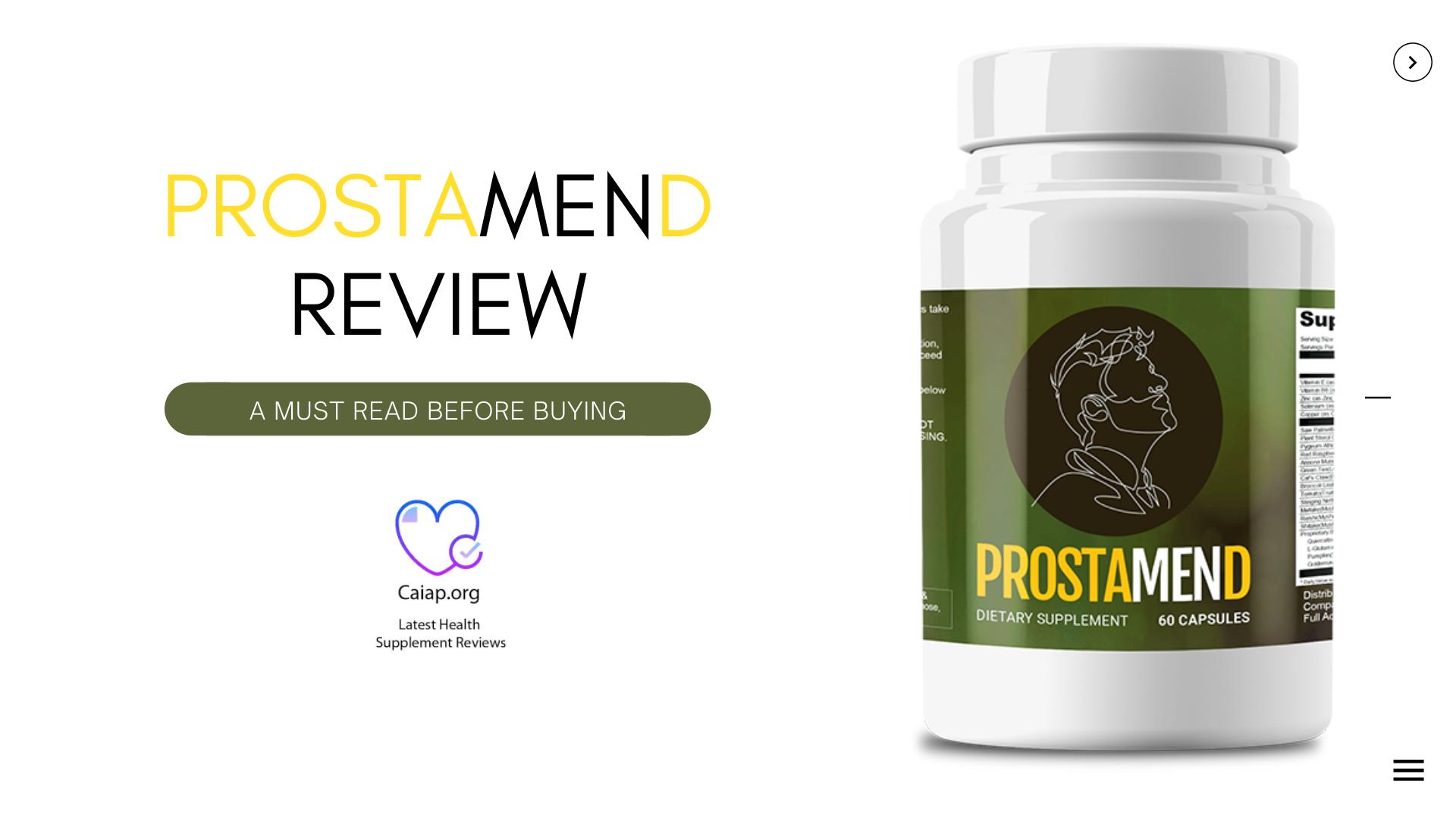 Prostamend® ☛ Get in Formula 100% Legit Formula - Price, Reviews?