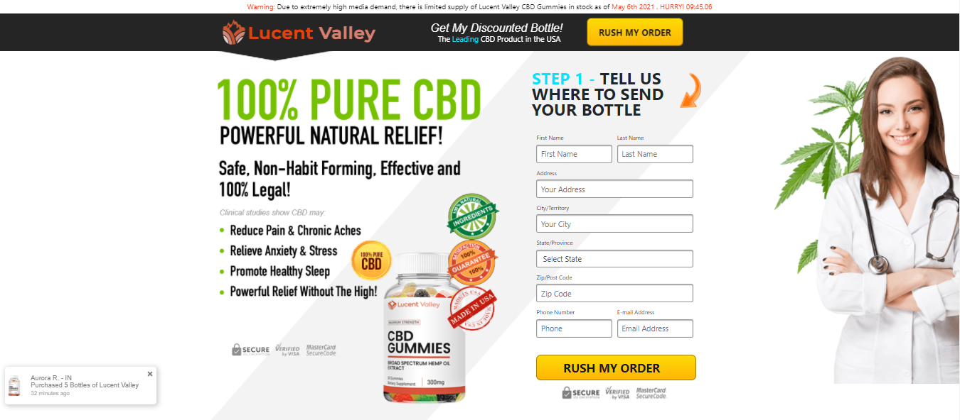 Lucent Valley CBD Gummies - GUIDE: [New 2021] Does Its Really Works?