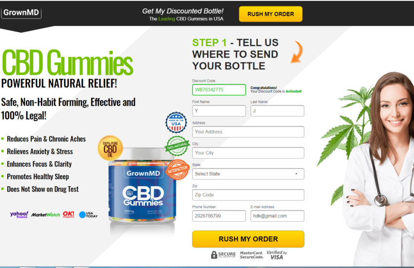 """GrownMD CBD Gummies """"UPDATE 2021"""" Does Its Really Works?"""