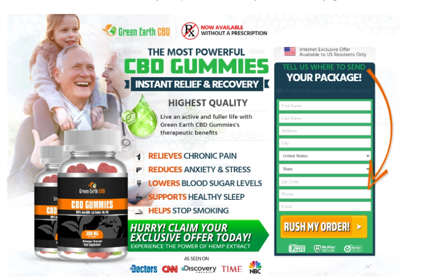 Green Earth CBD Gummies Reviews - Does Its Really Works?