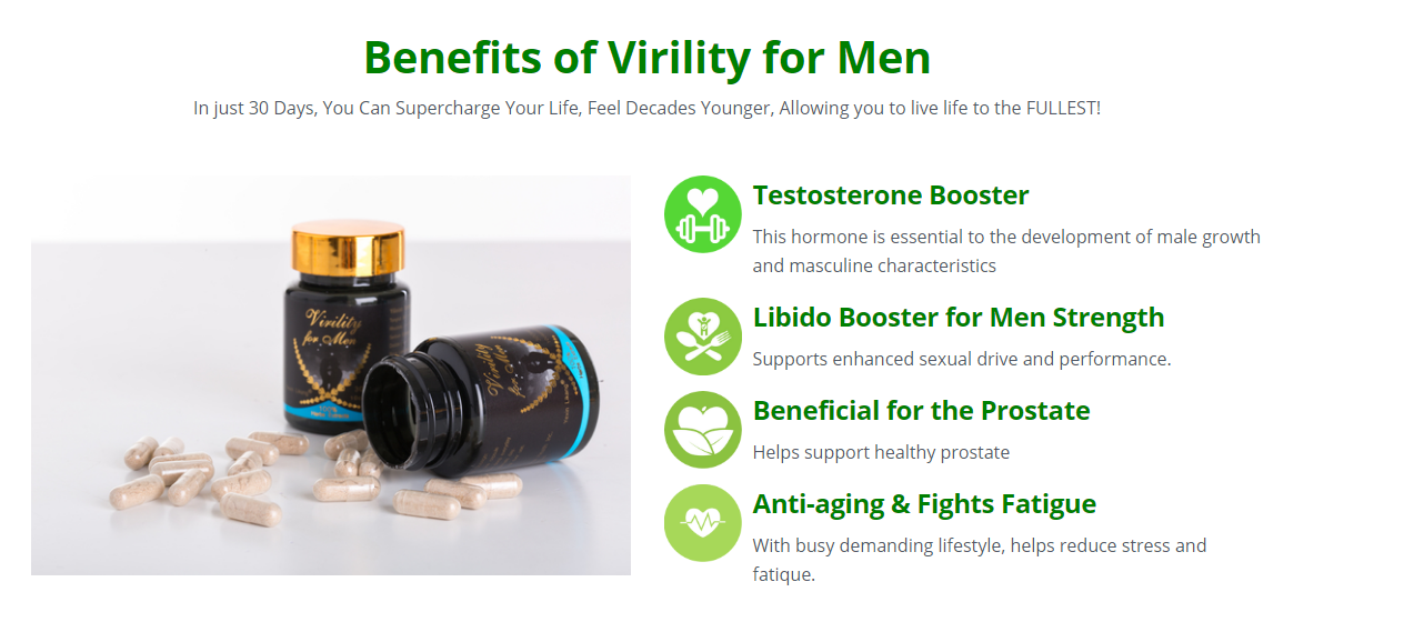 """Virility for Men """"Pros & Cons"""" Uses, Advantages, Scam, Price?"""