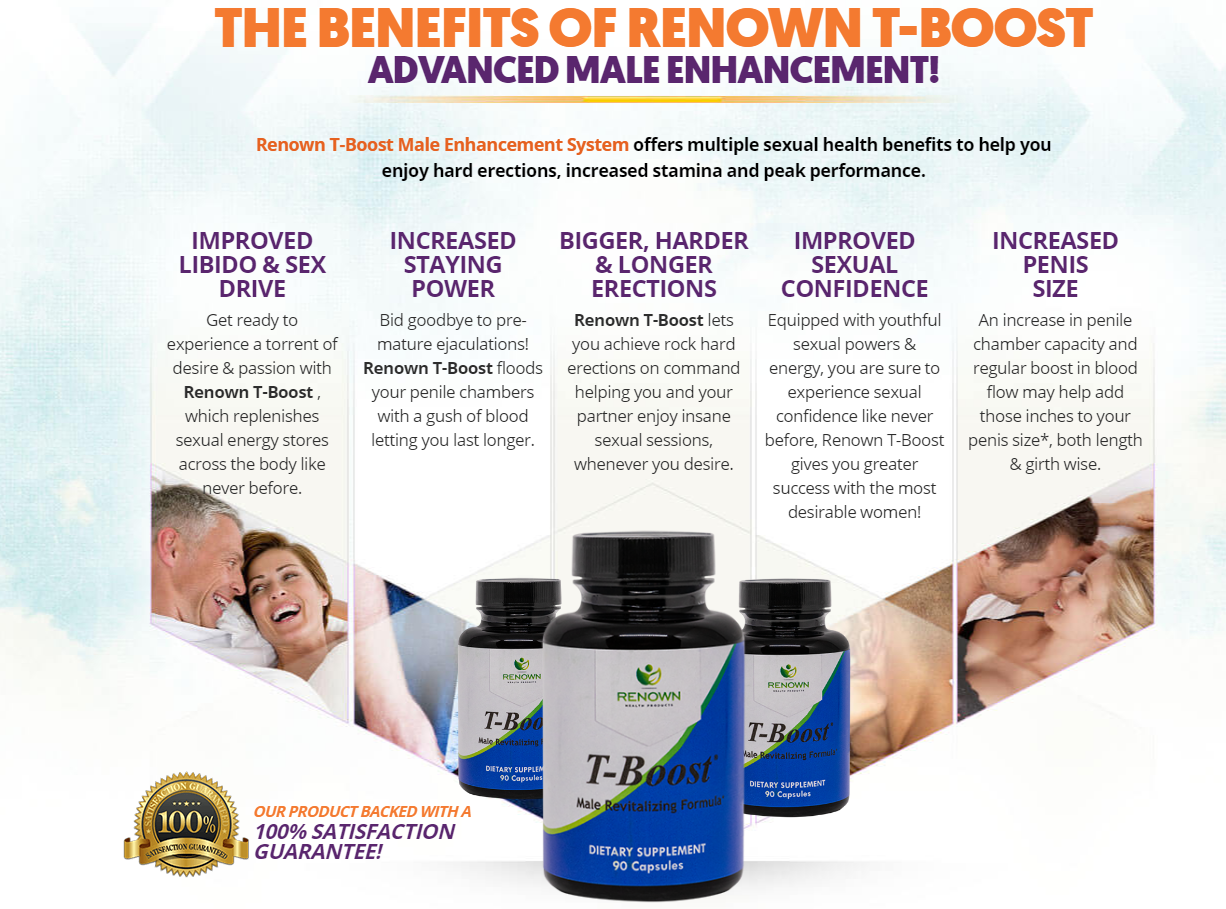 Renown T-Boost Male Revitalizing Formula - Does Its Really Works?